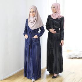 Striped shirt women's dress