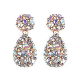 Exaggerated earrings, rhinestones, earrings, studs