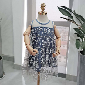 Hazy Flower Girl Dress princess skirt