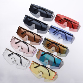 Fashionable large frame goggles gorgeous avant-garde multicolor optional Sunglasses