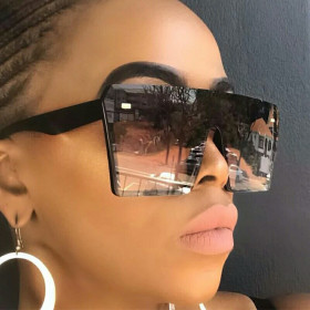 Fashion Sunglasses with large frame, one piece, fashion glasses, INS Sunglasses