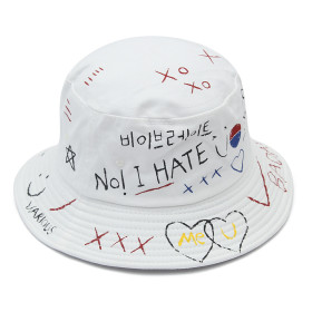 Doodle love sunshade fisherman hat