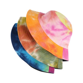 Fashion gradual tie dye fisherman hat can be worn on both sides