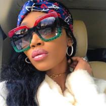 Fashionable colorful glitter Sunglasses RETRO SUNGLASSES