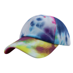 Colorful tie dye baseball cap women's sunscreen hat