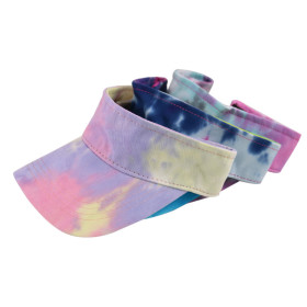 Colorful tie dye empty top hat women's sunscreen hat for spring and summer travel
