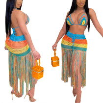 Sexy Hand Crocheted fringe casual Suit Swimsuit blouse