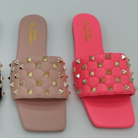 Small fragrant square head sandals and slippers