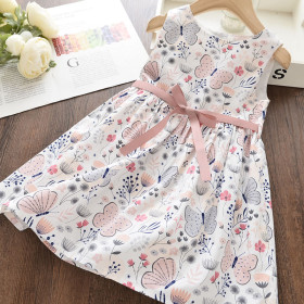 Kids Flower Pattern Clothes Girls Princess Dress Kids Clothing For Dress