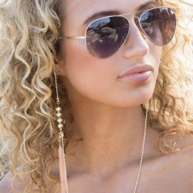 Natural feather eyewear chain sunglasses accessories