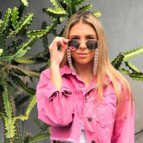 Simple multicolor acrylic eyewear chain sunglasses accessories