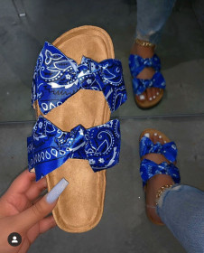 Sandals, bows, flats, women's slippers