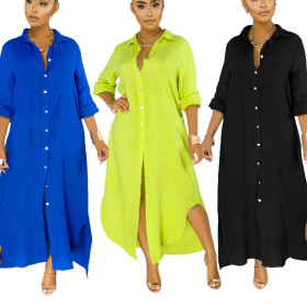 Sexy fashion classic solid color women's lining dress