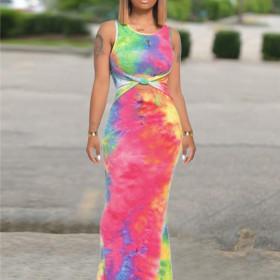 Tie dye color dress