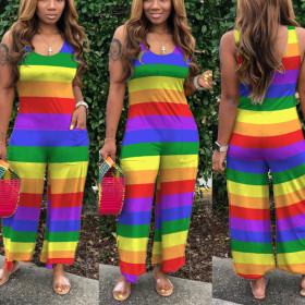 Pocket Rainbow Stripe slacks