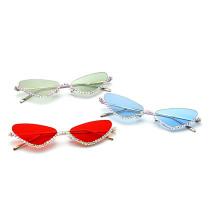 Sunglasses drill metal color lenses frameless