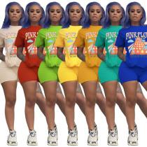 Cotton multi color spot printing suit