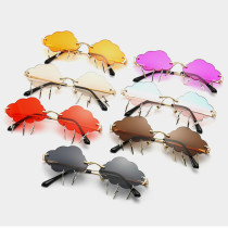 Trend cloud lightning sunglasses metal frame sunglasses