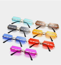 Personalized hollow blade Sunglasses