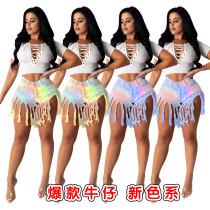 Tassel gradient jeans foreign trade women's wear (pants only)
