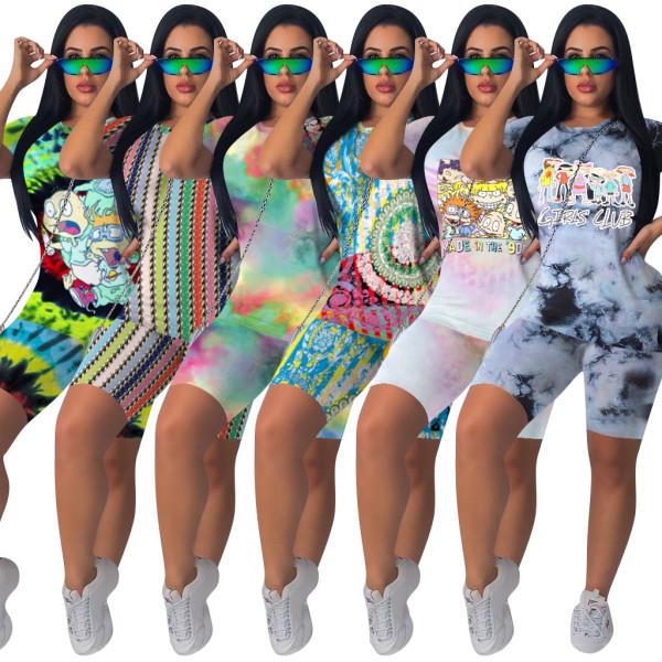 Printed sportswear Pants Set night club two piece set