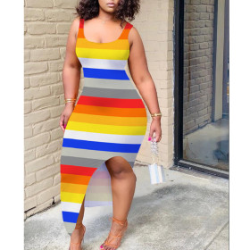 Women's colorful printed dress