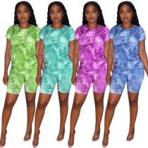 Denim print fashion casual suit