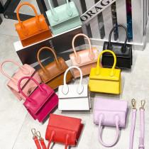 Handbag Korean fashion Mini messenger bag student crystal leather shoulder bag