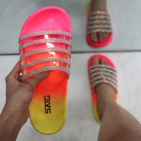 Fashion transparent diamond slippers
