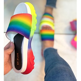 Colorful sports style slippers cross border slippers