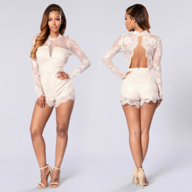 Fashionable lace long sleeve short pants