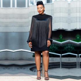 Tassel shawl Skirt Set