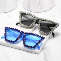 Big frame full drill sunglasses, small glasses
