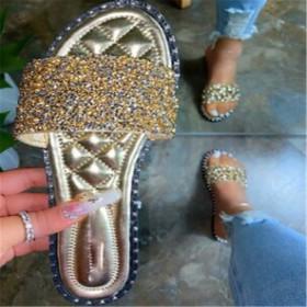Diamond Sequin slippers