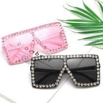Fashion big box cross border diamond Sunglasses