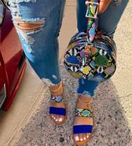 Fashionable design snakeskin print messenger bag round bag