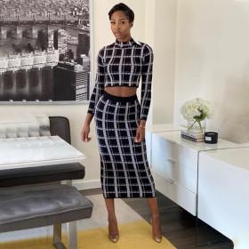 Printed Plaid Dress
