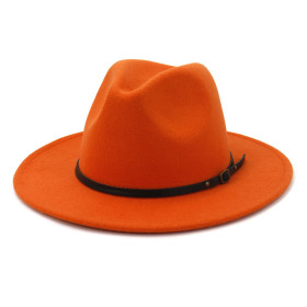 Woolen hat simple felt big cornice hat fashionable flat brim hat
