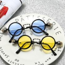 Round RETRO SUNGLASSES small frame punk hip-hop Sunglasses