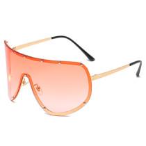 Conjoined Sunglasses female personality rivet ocean film Sunglasses cross border glasses