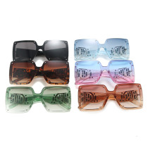 Large frame square connected Sunglasses color Sunglasses