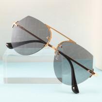 Frameless polygonal Sunglasses