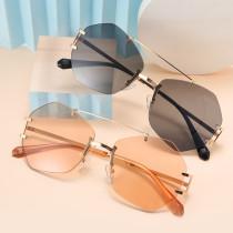 Irregular rimless Sunglasses