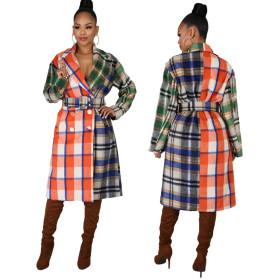 Woolen coat women's middle and long fashion slim thick woolen coat