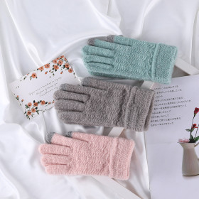 Thick Plush knitted gloves