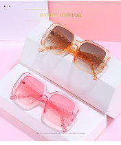 Square fashion pattern foot silk Sunglasses