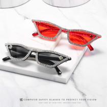 Diamond hand point drill cat's Eye Sunglasses