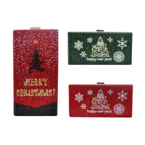 Plastic diamond Christmas tree party bag