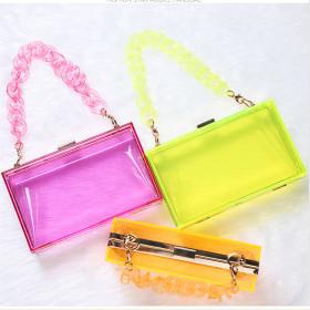 Cross carrying transparent acrylic bag