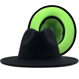 National style jazz hat cashmere felt hat